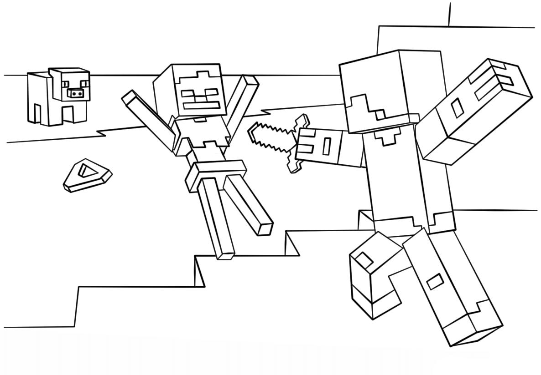 как нарисовать Minecraft стива - как
