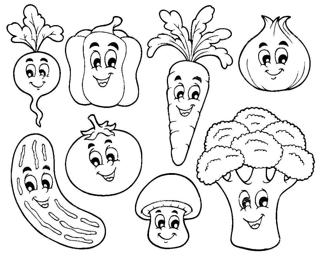 овощи раскраска картинки