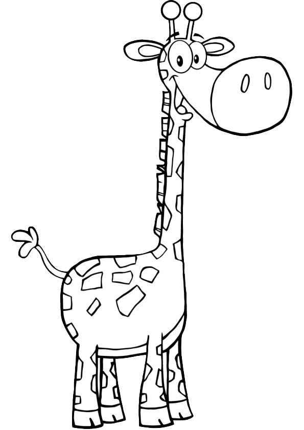 раскраска жираф животные африки жираф