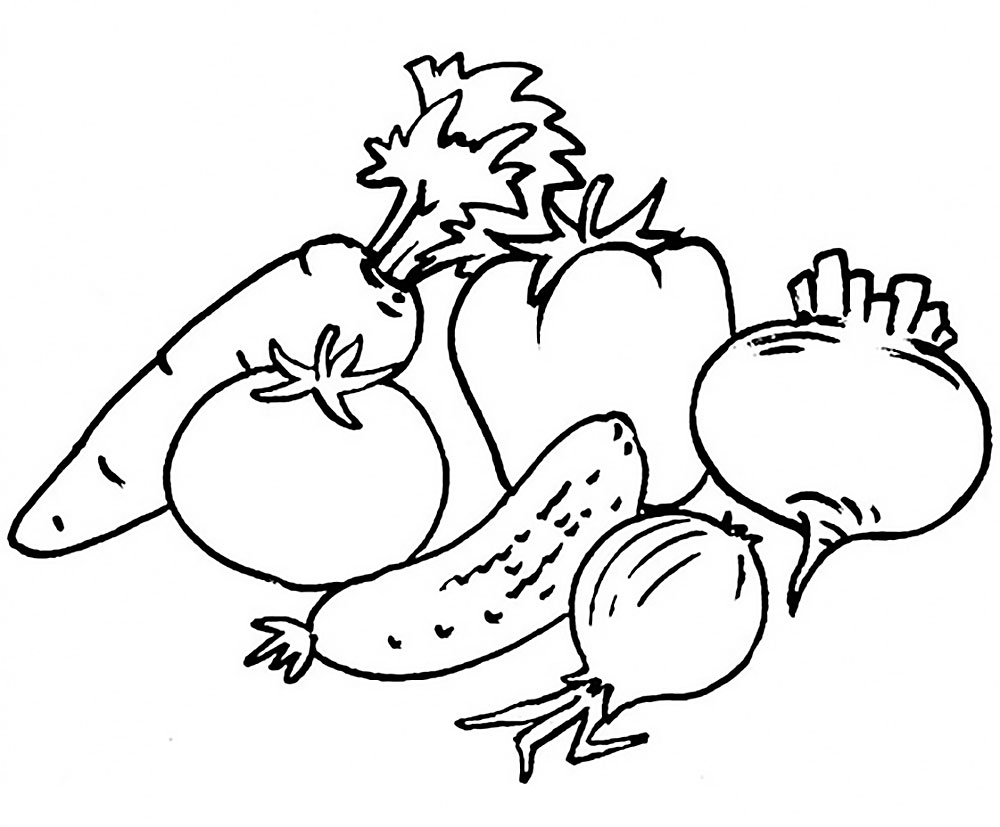 раскраска овощи для детей раскраски с овощами для детей
