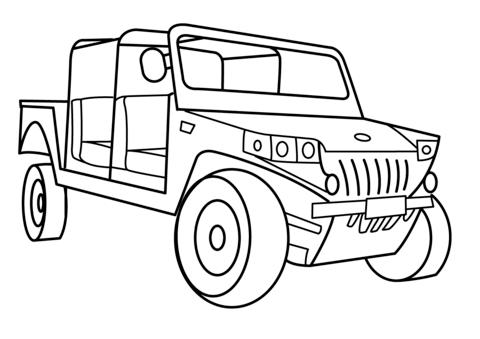 раскраска военные джипы военные автомобили высокой