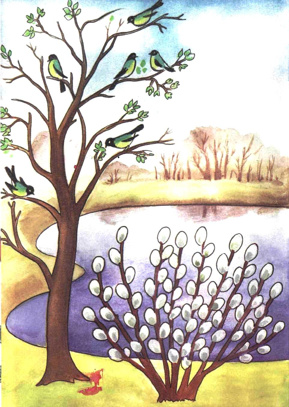 Весна апрель картинки для детей нарисованные