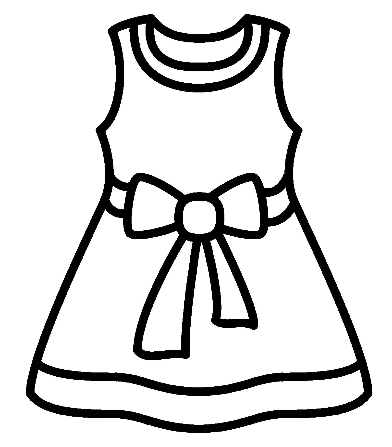 раскраски платье для куклы распечатать отличии