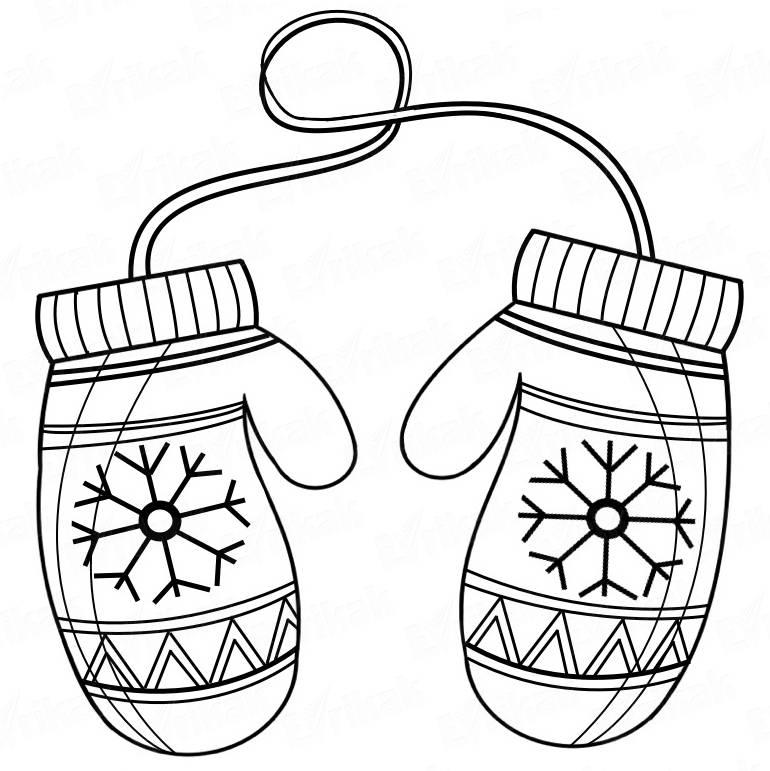 рисунок рукавички с узором преимущественно театральной
