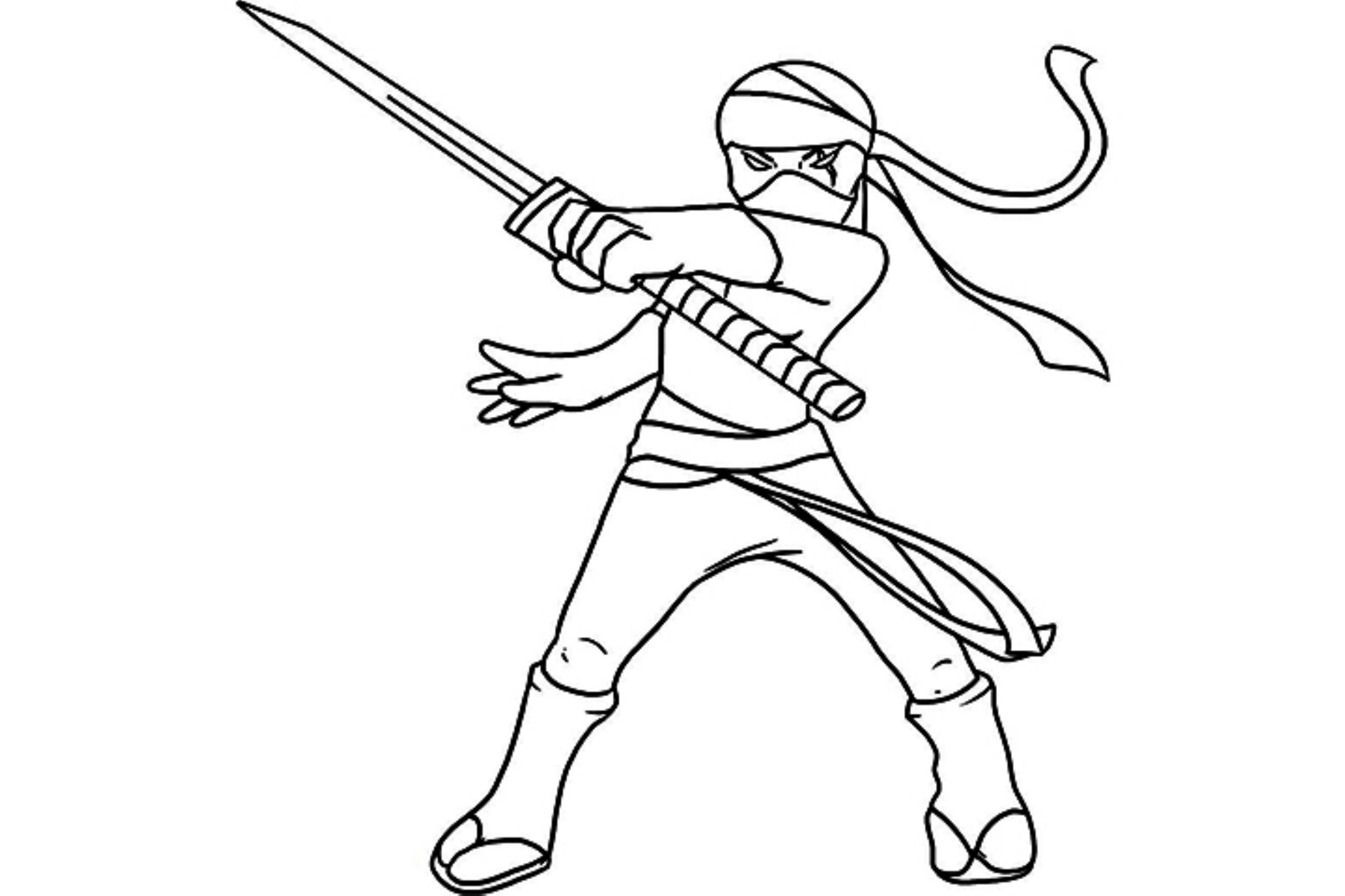 Картинки как нарисовать ниндзя карандашом