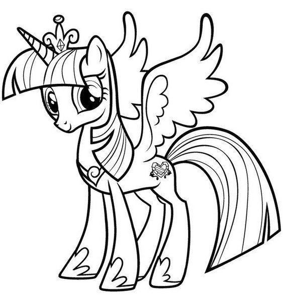 Раскраска Раскраски с поняшками из мультфильма май литл поин мой маленький пони