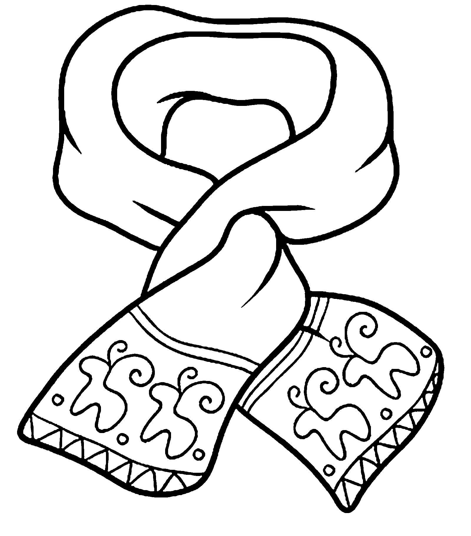 Картинка раскраска шарф