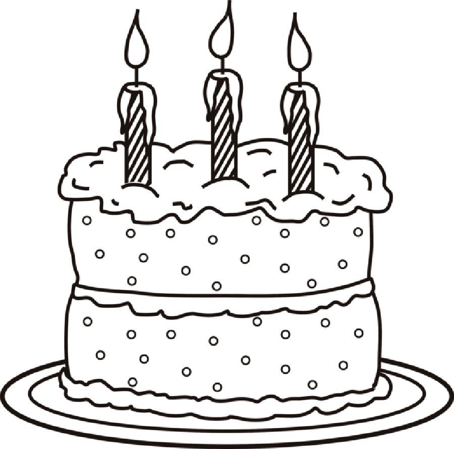 рисунки тортики с днем рождения дверных