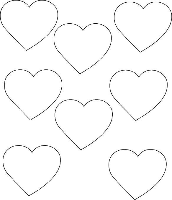 Сердечки шаблон картинки