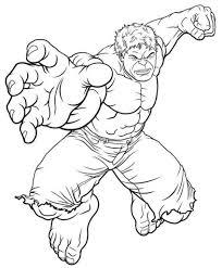 Раскраска Халк раскраски из Марвел. Супергерой Халк.