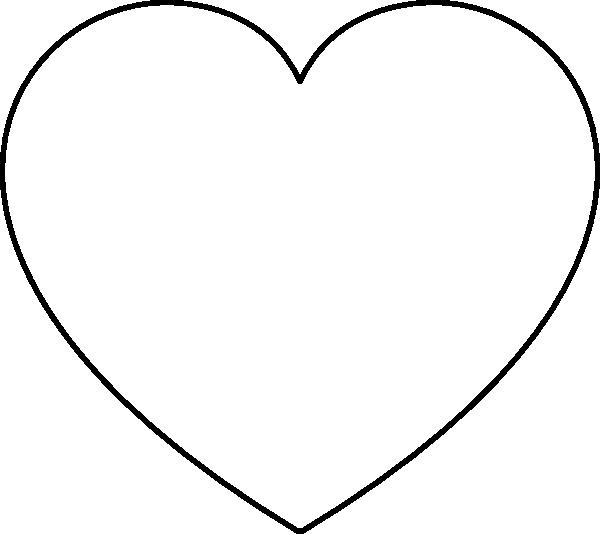 Все Контур шаблон трафарет сердца для вырезания ,сердце для поделок на день святого Валентина,