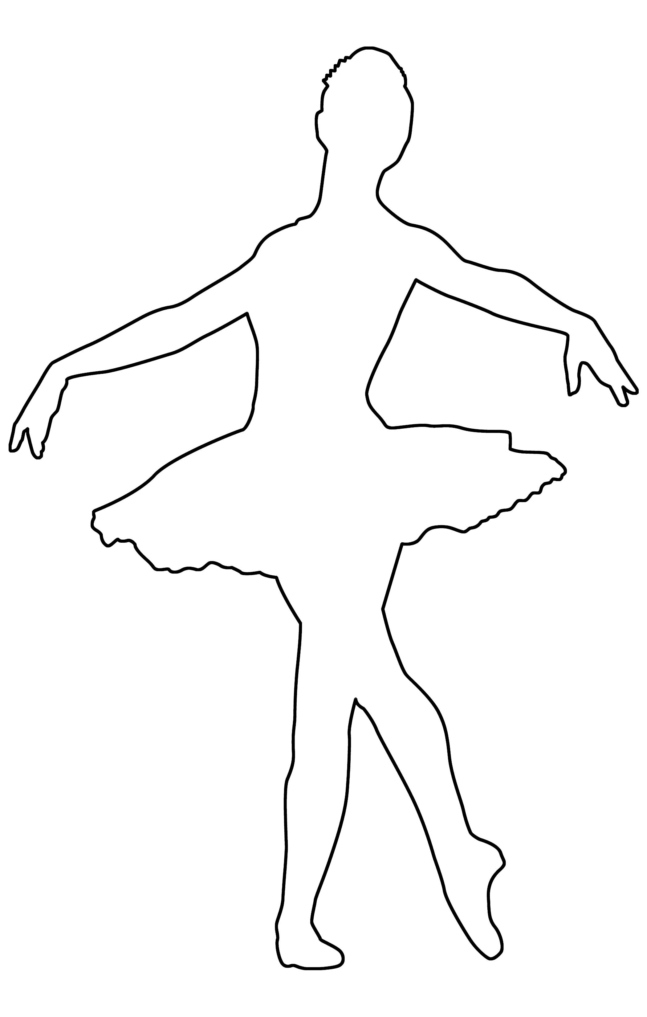 Балерина картинка печать