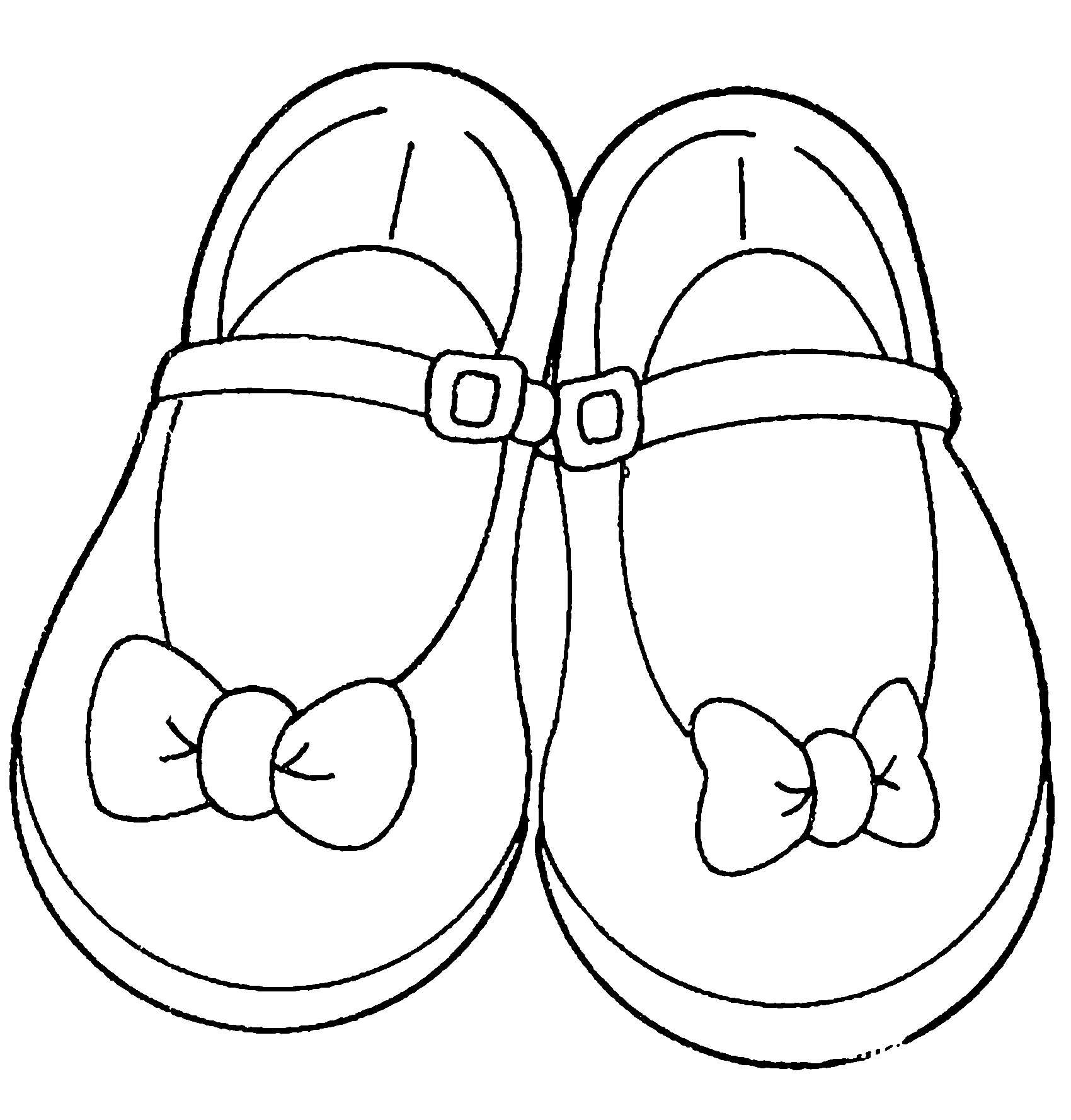 раскраска туфельки распечатать икарди