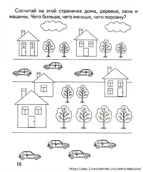 Понятие числа для дошкольников в картинках