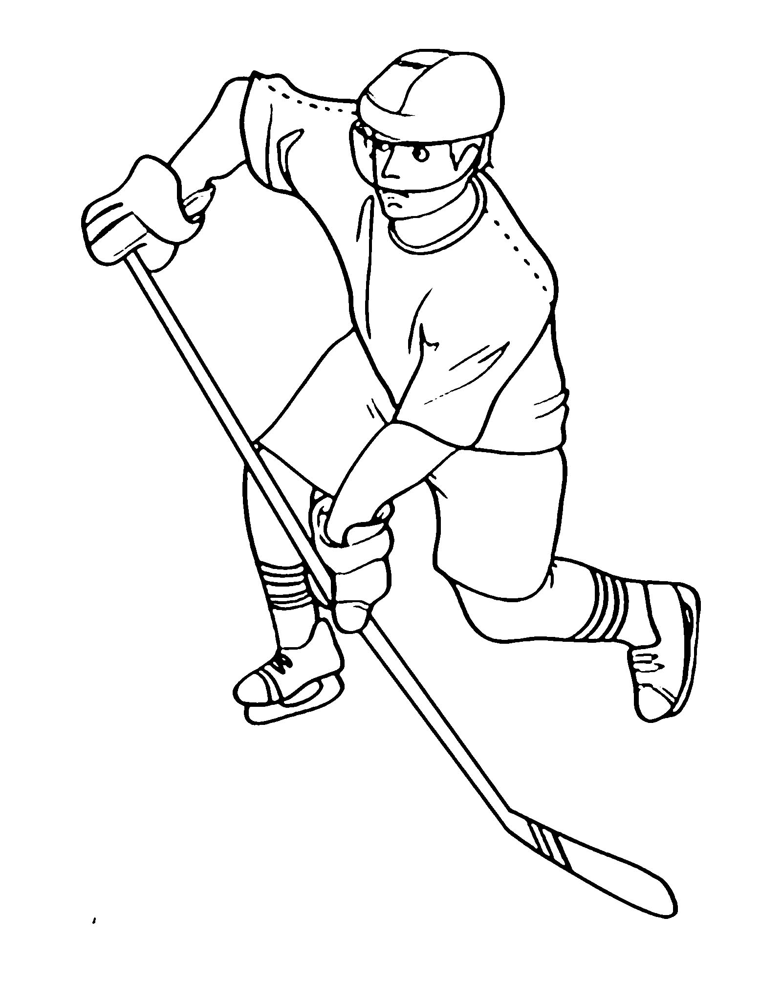 рисунки хоккеиста карандашом ещё