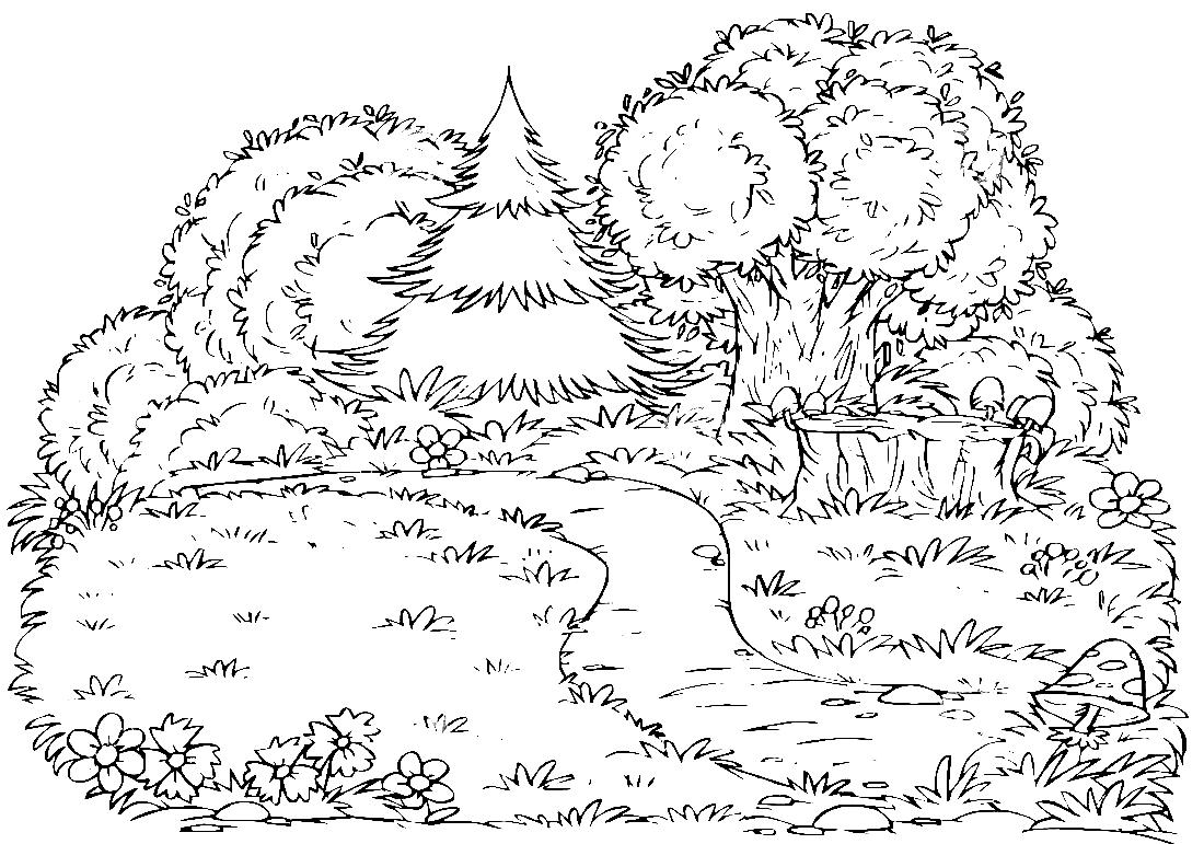 картинка леса распечатать юбилей