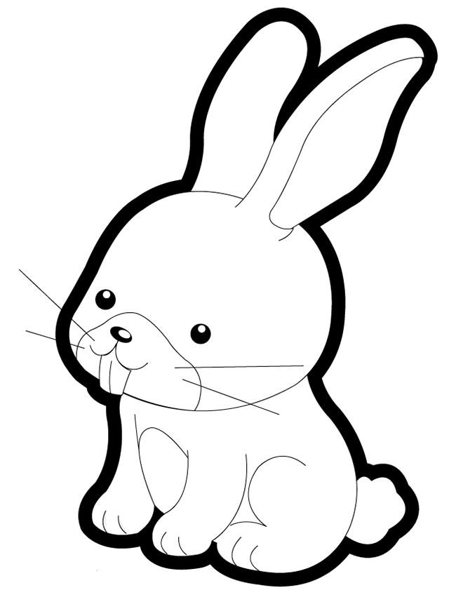 Заяц детская картинка раскраска