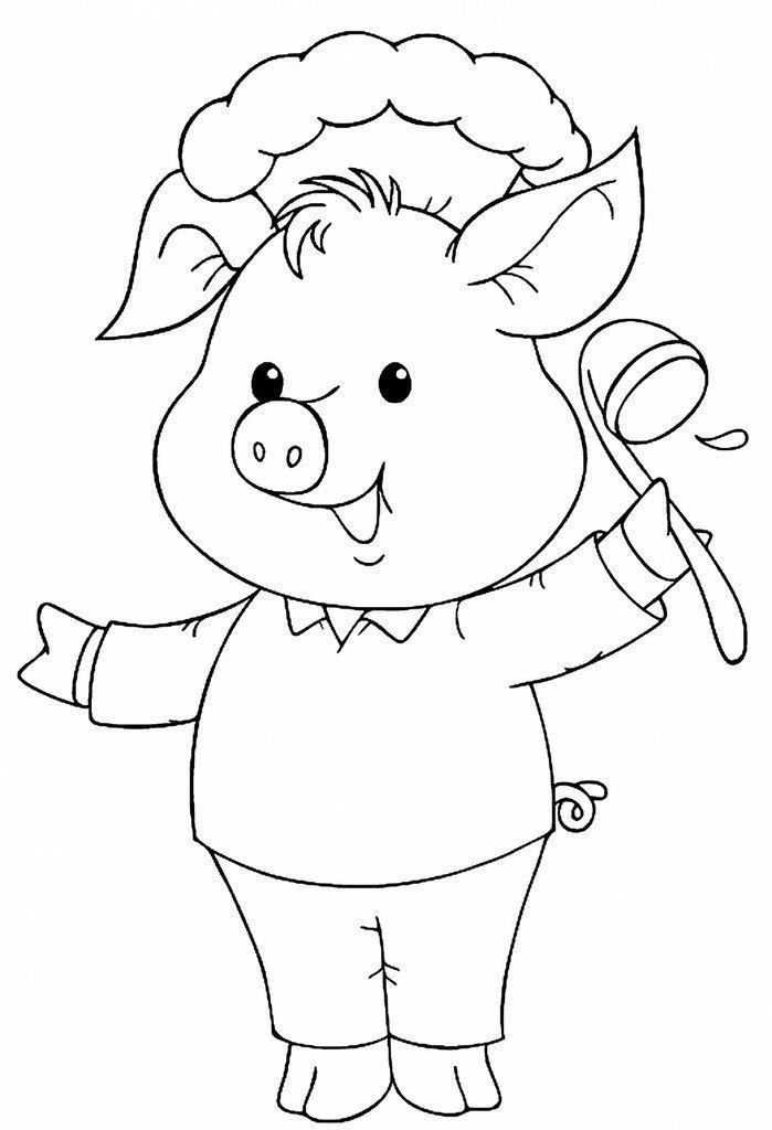 Свинка картинка распечатать