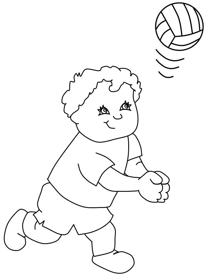 Картинка девочка с мячом раскраска