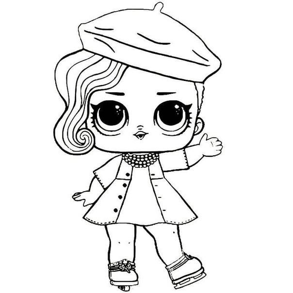Раскраска. для девочек куклы лол
