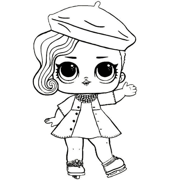 Раскраска Куклы ЛОЛ Раскраски с куколками Лолочками