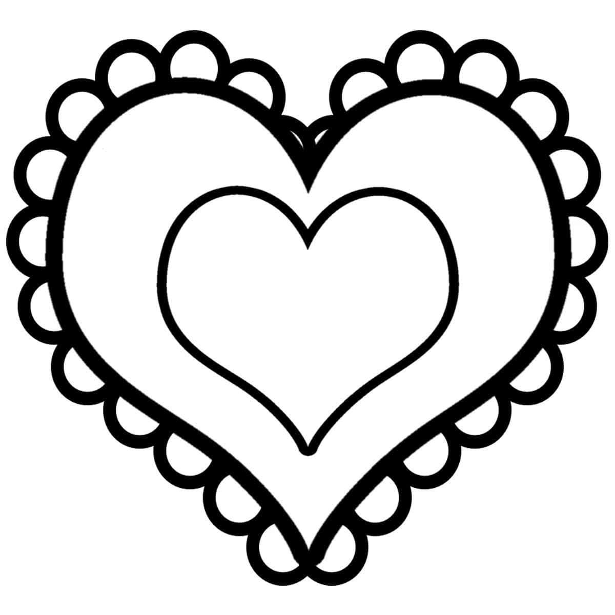 Все Сердце ,раскраска на тему любовь на 14 февраля,