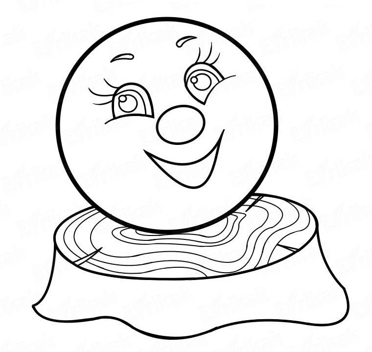 Картинка колобка для рисования