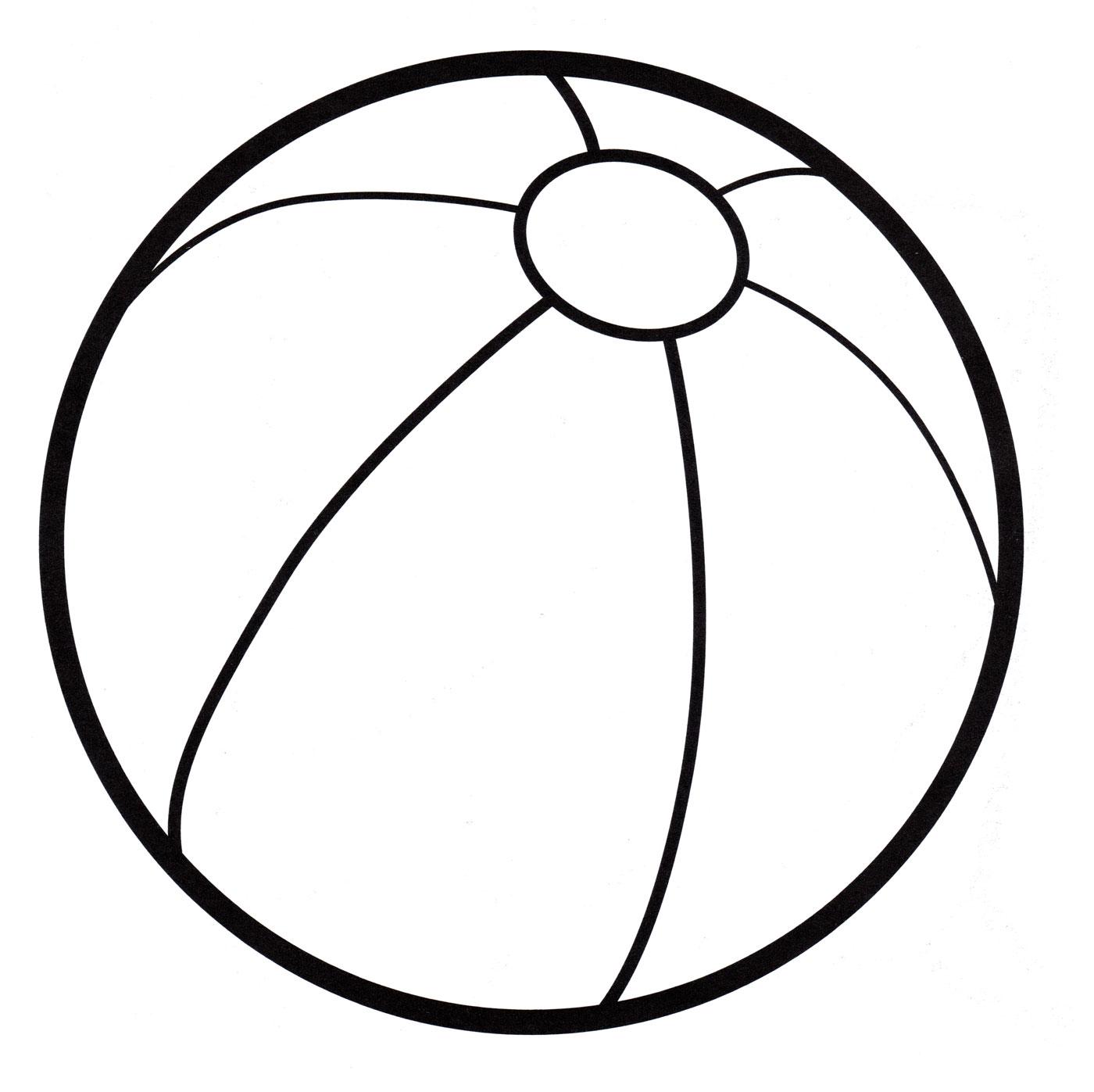 Мячи раскраска для детей