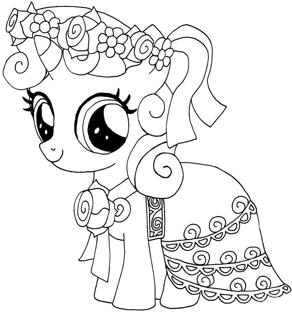 Милые пони раскраска