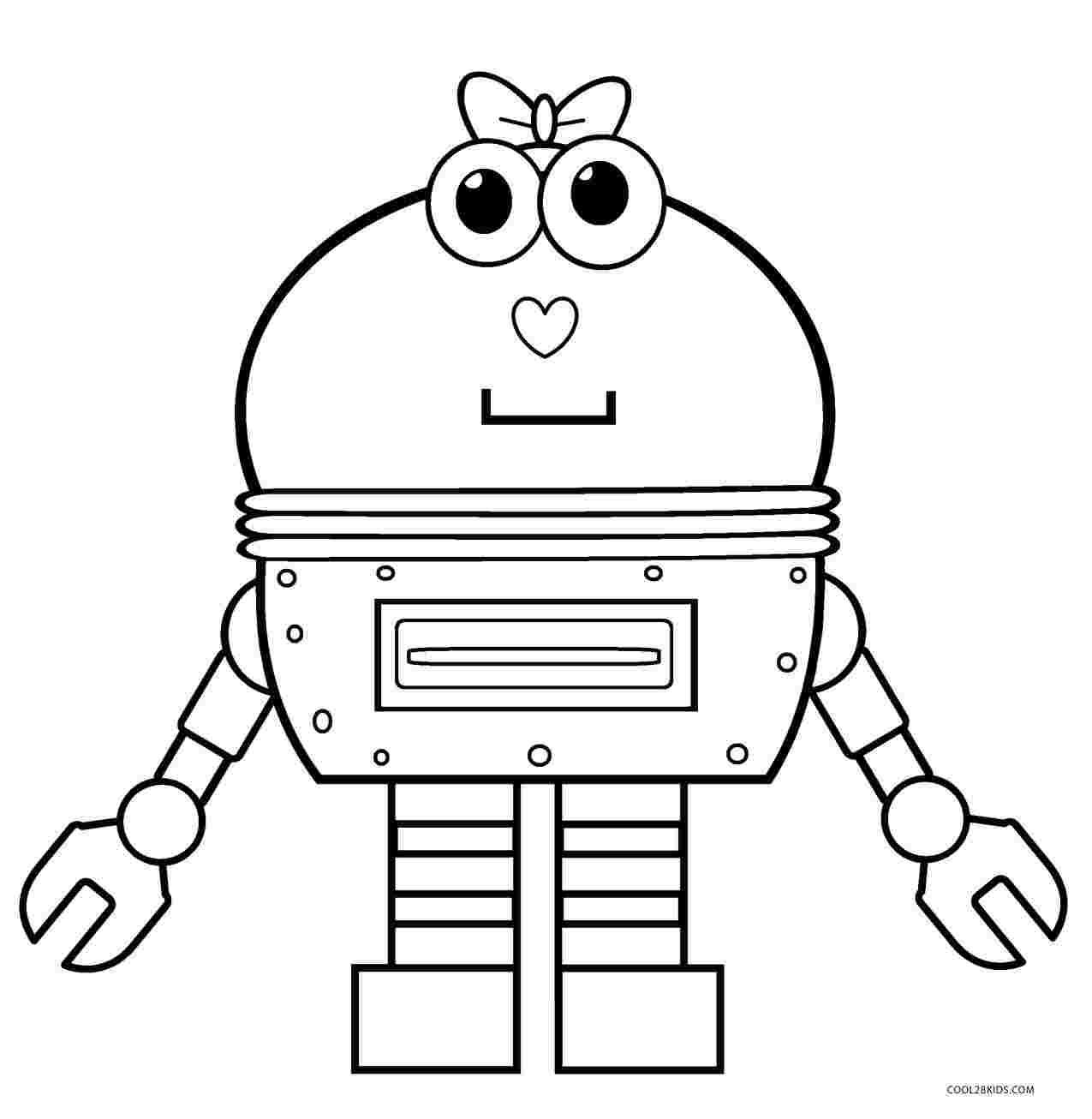 Робот раскраска для малышей