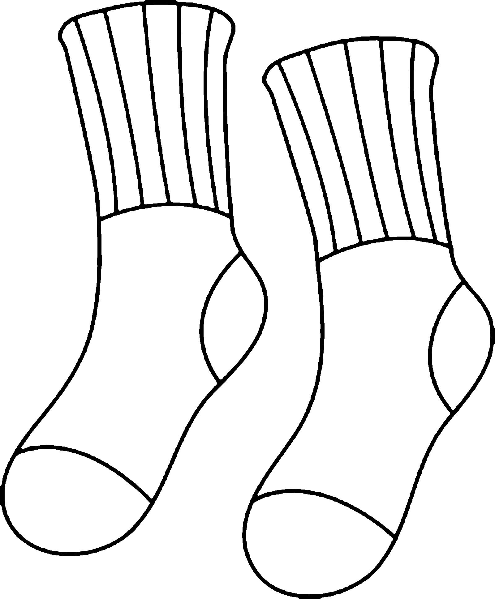 будущей черно белый рисунок носок идея сделать