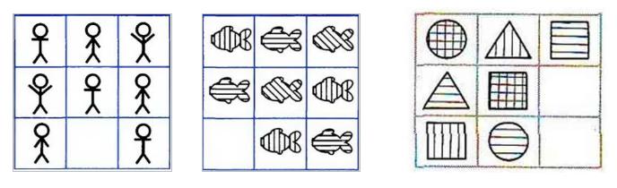 Картинки найди закономерность и продолжи ряд