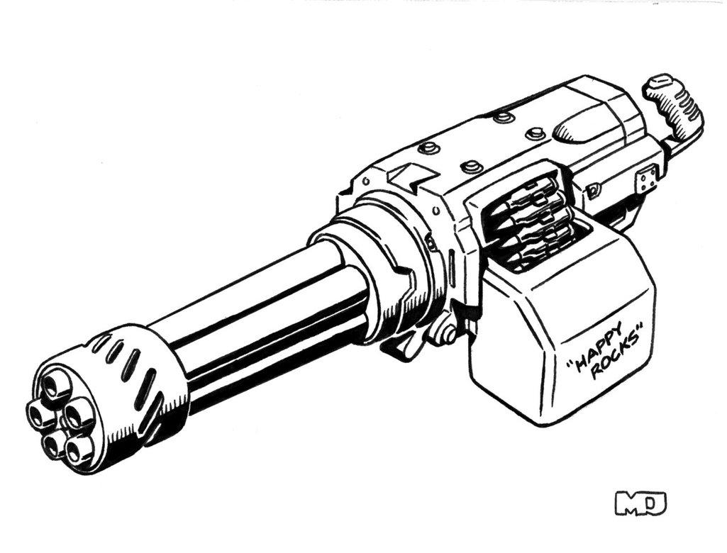 Пулемет картинка для раскраски