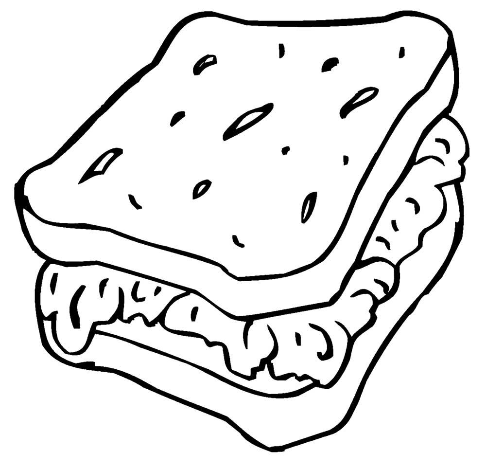Картинки еды для распечатки и вырезания черные