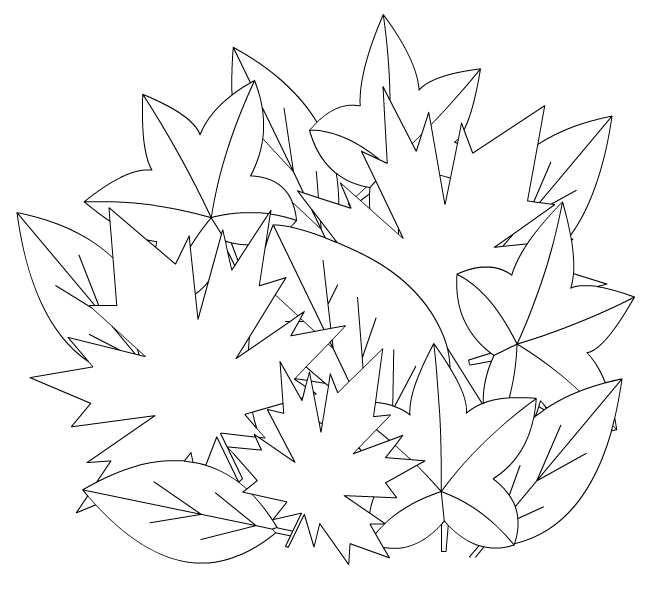 картинки для раскрашивания ваза с листьями чтобы сон