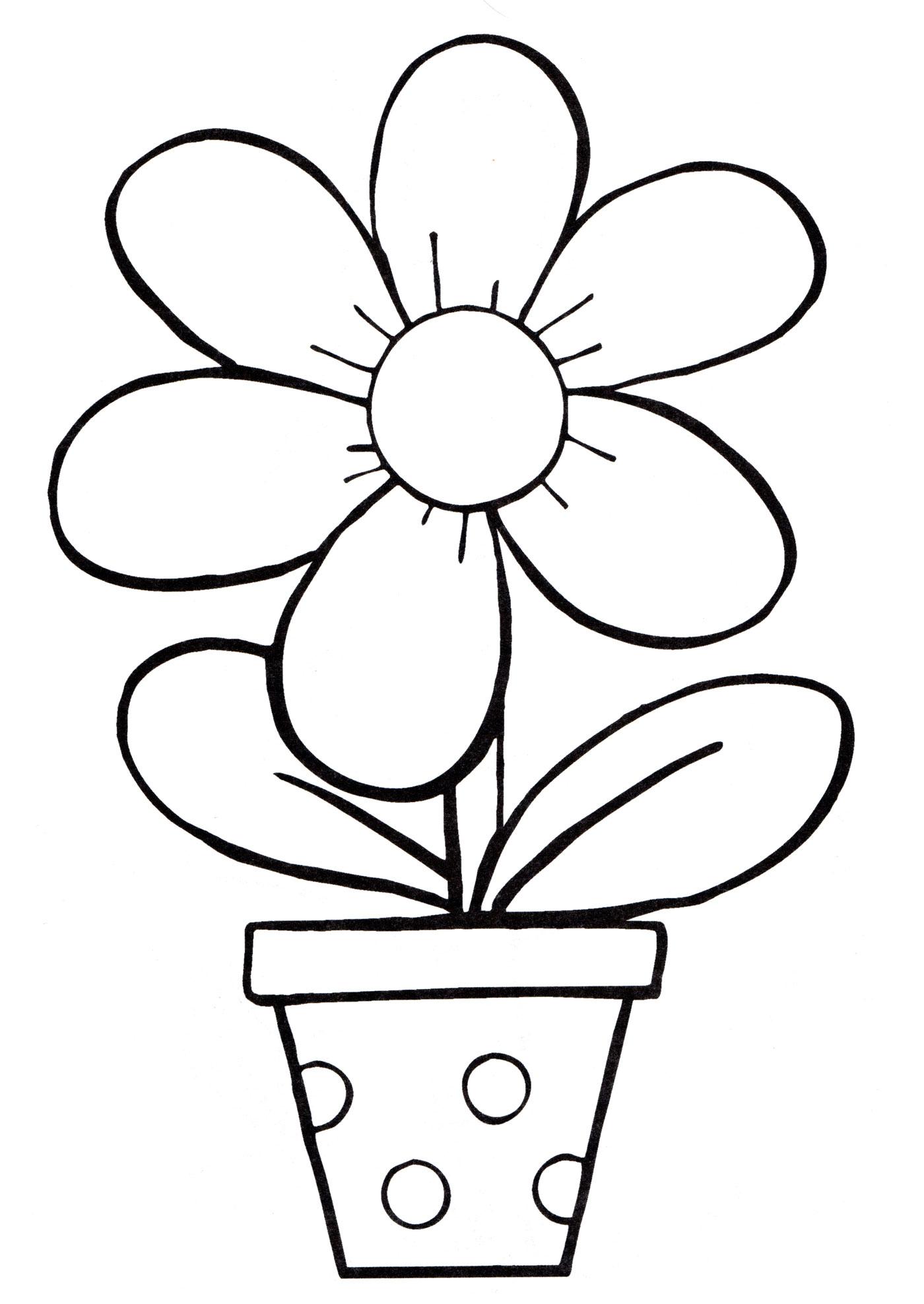 Раскраска Цветы в горшке для раскрашивания Раскраски с комнатными растениями