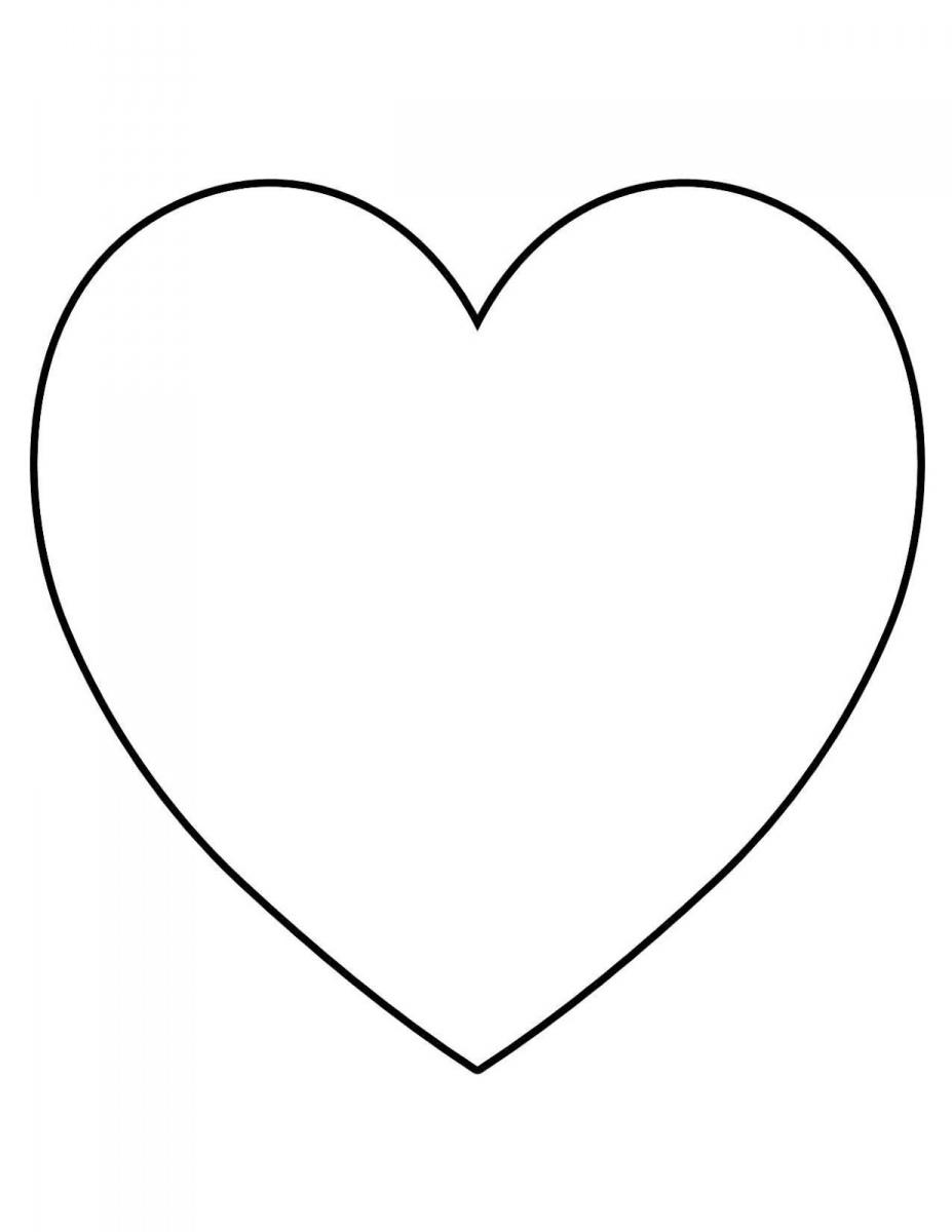 Раскраска Контуры сердец и валентинок для вырезания, поделок и аппликаций Скачать и распечатать бесплатно контуры сердечек. Шаблоны сердца для раннего развития и занятий в детском саду