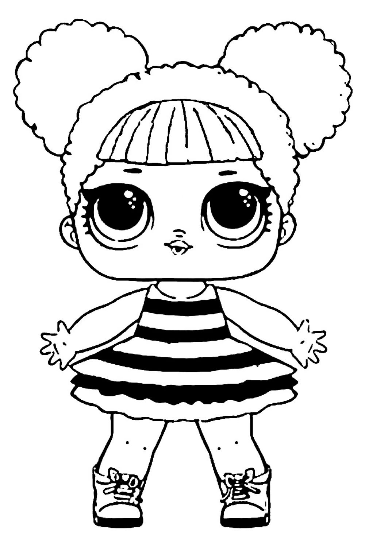 Раскраска Раскраски куклы лол для девочек скачать бесплатно онлайн куклы лол распечатать хорошего качества