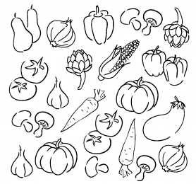 Раскраска овощи для детей детские раскраски с овощами ...