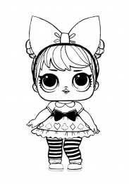 Раскраска раскраски кукол лол...